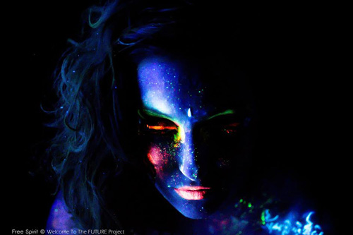 Welcome to the FUTURE Blacklight bodypainting